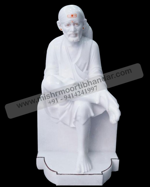 pure white sai baba idol