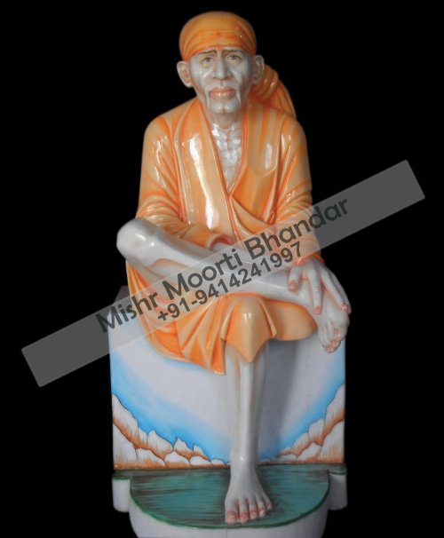 colored sai baba statue